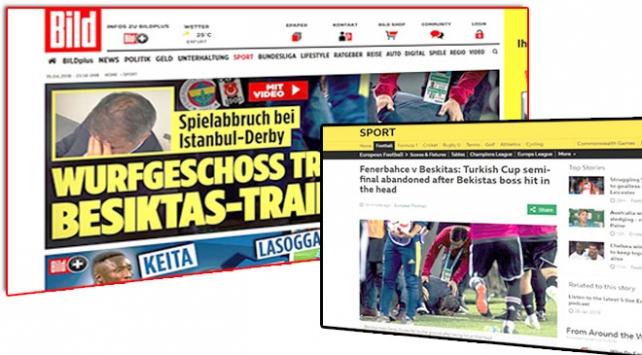 Olaylı derbi Avrupa basınında