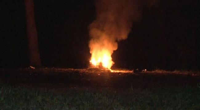 Orman yangınına sebep olan 2 kişi yaralandı