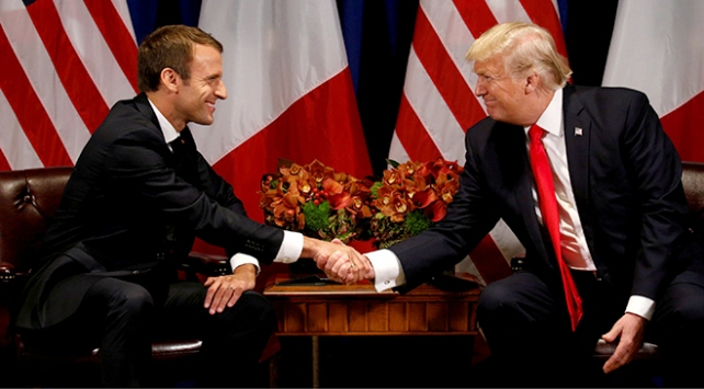 Fransa Cumhurbaşkanı Macrondan sürpriz ABD ziyareti