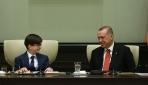 Cumhurbaşkanı Recep Tayyip Erdoğan, çocukları kabul etti
