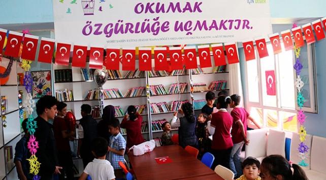 Hatayda Afrin şehitleri anısına kütüphane oluşturuldu