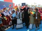 Cumhurbaşkanı Erdoğan dünya çocuklarıyla bir araya geldi