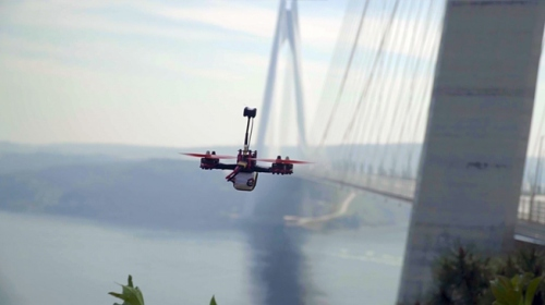 Dronelar Yavuz Sultan Selim Köprüsünde yarıştı