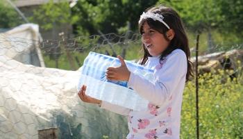Samsattaki depremzedelere su yardımı