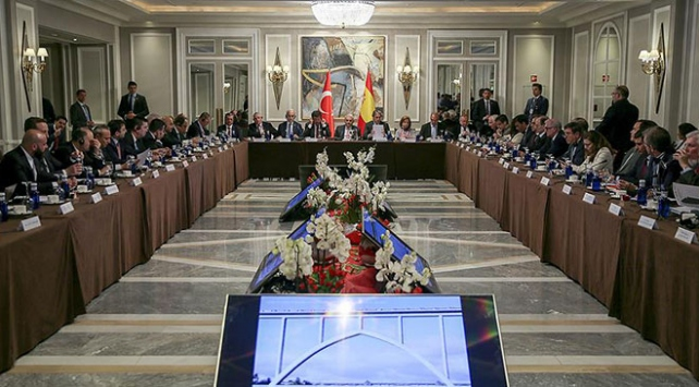 Başbakan Yıldırım, Türk ve İspanyol iş adamlarıyla bir araya geldi