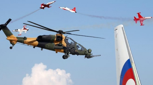 Euroasia Airshow 2018'in yıldızı yerli gururumuz ATAK helikopteri oldu