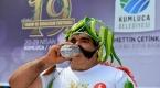 Antalya Kumlucada acı biber yeme yarışması düzenlendi
