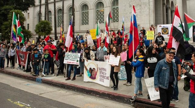 ABDde 1 Mayıs kutlamalarında Trump karşıtı protesto