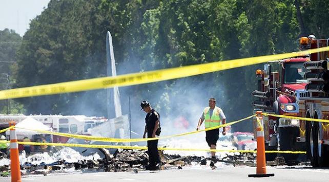 ABDde askeri kargo uçağı düştü