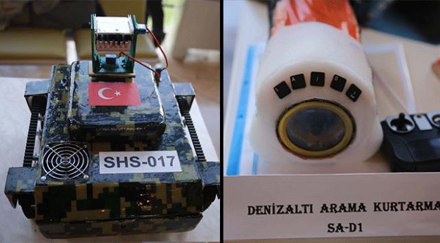 Öğrenciler tank ve denizaltı tasarladı
