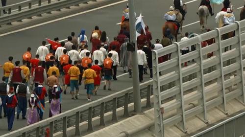 Etnospor Festivaline katılacak sporcular 3. Köprüden atlarıyla geçti