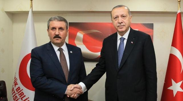 Cumhurbaşkanı Erdoğan BBPyi ziyaret etti