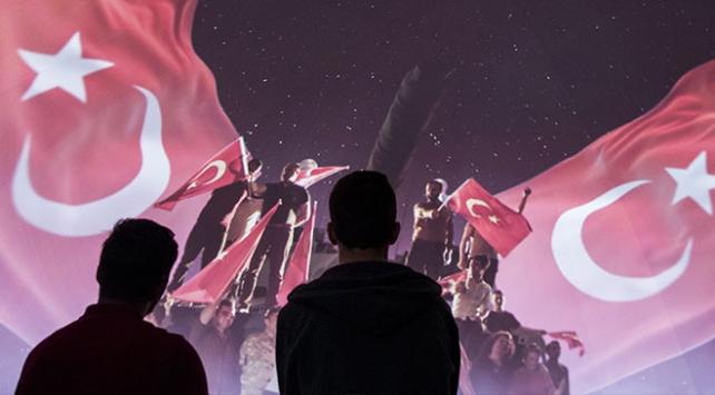 Etnospor Festivalinde 15 temmuz animasyonu