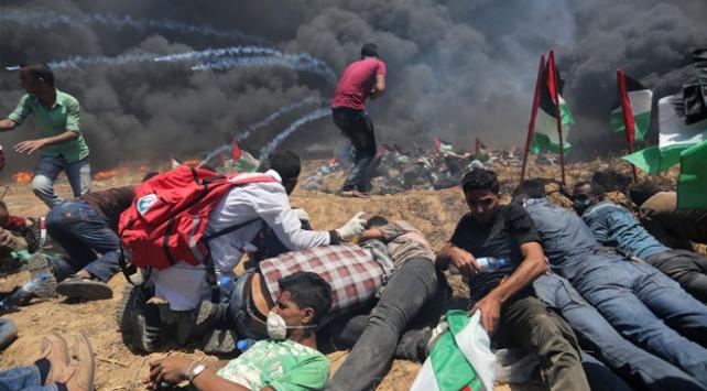 Gazzede İsrail katliamı: 64 şehit, 3000den fazla yaralı var