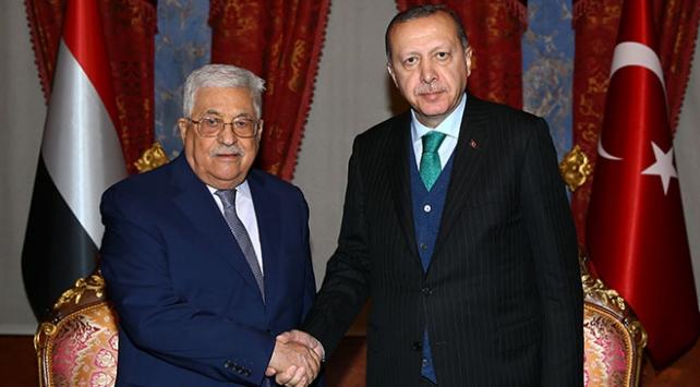 Cumhurbaşkanı Erdoğan, Filistinli mevkidaşı Abbas ile görüştü