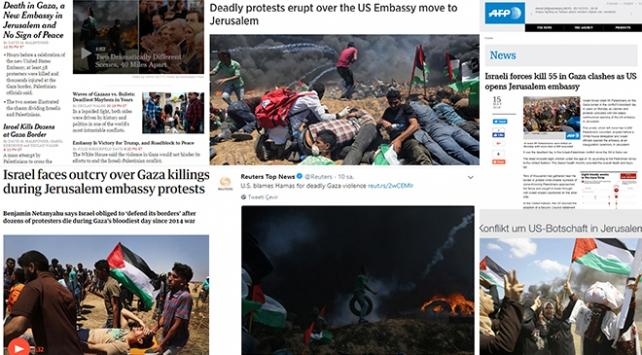 İsrailin Gazzedeki katliamı dünya basınında