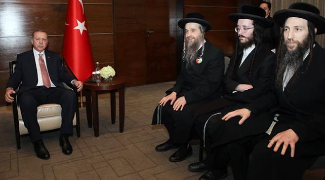 Cumhurbaşkanı Erdoğan, Musevi Cemaati liderlerini kabul etti