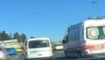 Trafik magandası E-5te ambulansla yarıştı