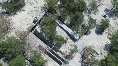 Afrinde hava saldırılarına karşı korumalı terörist kampı tespit edildi