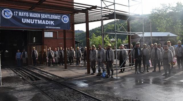 Zonguldakta grizu faciasında ölen madenciler için anma töreni düzenlendi