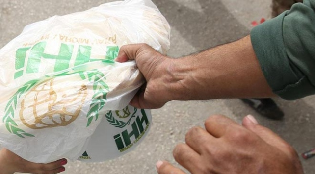 Gazzedeki ihtiyaç sahiplerine gıda yardımı