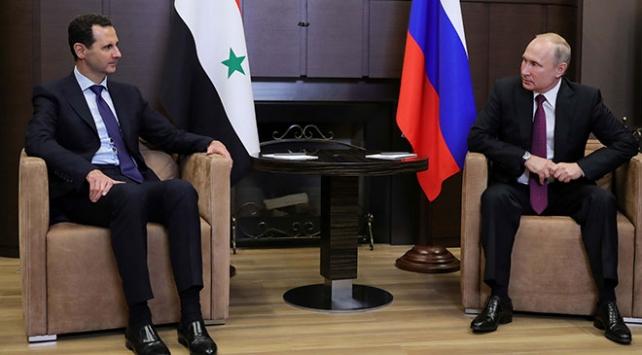 Rusya Devlet Başkanı Putin ile Esed Soçide bir araya geldi