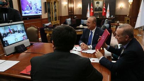 Cumhurbaşkanı Erdoğan, Venezuela Devlet Başkanı Maduro ile telekonferansla görüştü