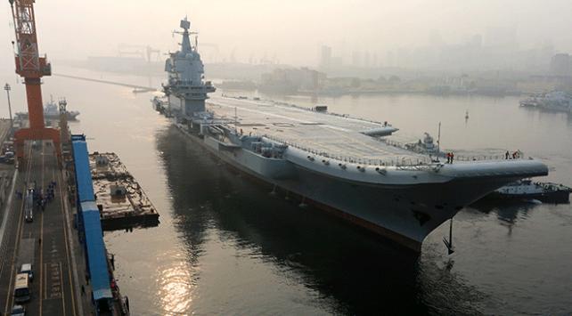 Çinin ilk yerli uçak gemisi seyir testini tamamladı