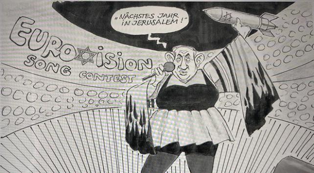 Almanyada Netanyahuyu çizen karikatürist işten kovuldu