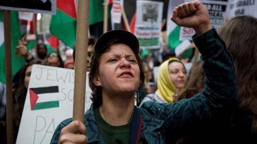 İsrailin Gazze katliamı ABDde protesto edildi