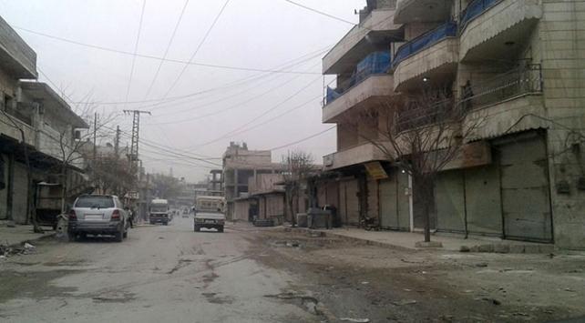 Münbiçte esnaf YPG/PKKya karşı kepenk indirdi
