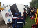 Kütahya'da otobüs devrildi: 1 kişi hayatını kaybetti, 16 yaralı