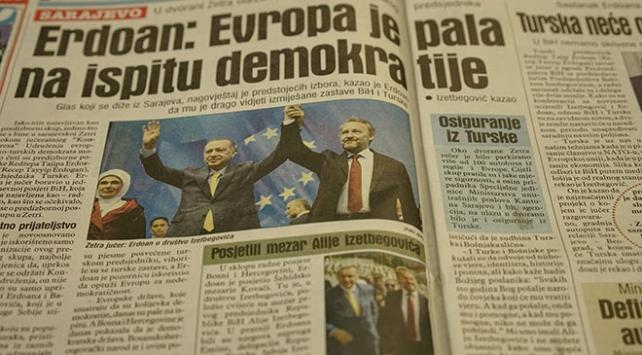 Cumhurbaşkanı Erdoğanın Bosna Hersek ziyareti manşetlerde