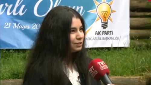 AK Partinin en genç milletvekili adayı TRT Habere konuştu