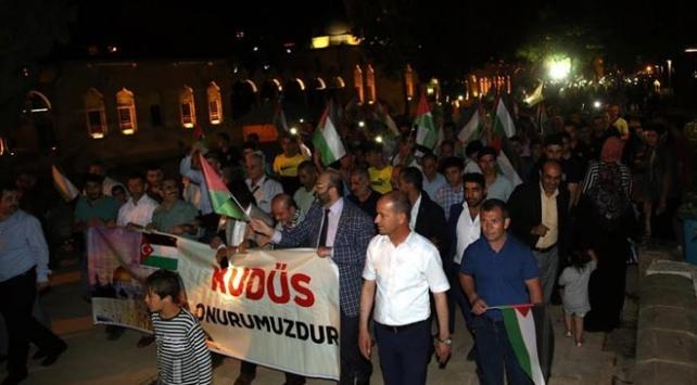 Şanlıurfada İsrail protestosu