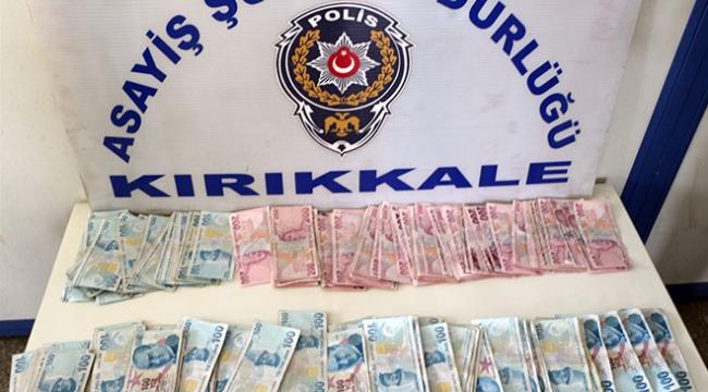 Kırıkkalede yanlışlıkla çöpe atılan 40 bin lirayı polis buldu