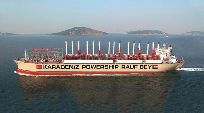 Türk enerji gemisi Sudanda elektrik üretimine başladı