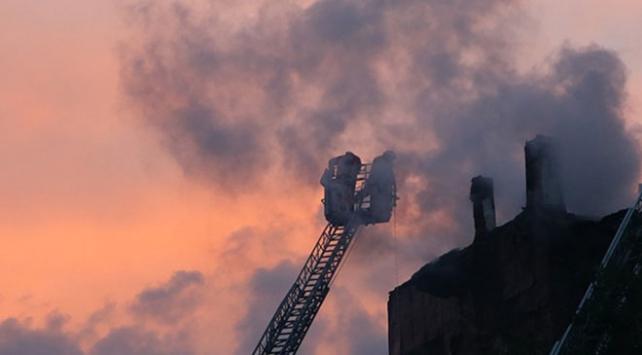 İTÜ'deki cami inşaatında yangın