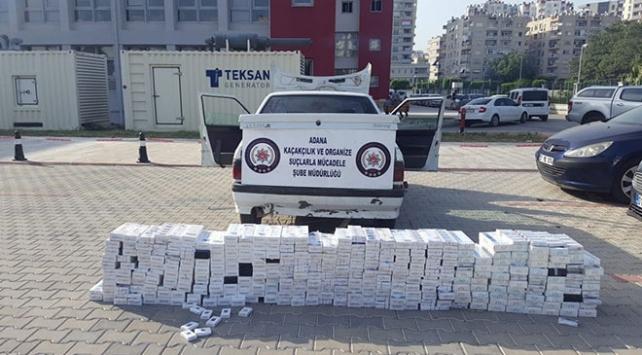 Adanada 3 bin 200 paket kaçak sigara ele geçirildi
