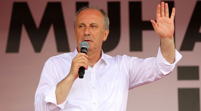 CHP Cumhurbaşkanı Adayı Muharrem İnce Erzincanda halka hitap etti