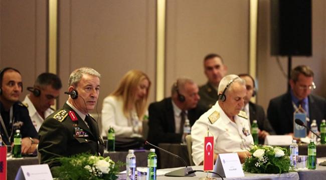 Genelkurmay Başkanı Akar, 12. Balkan Ülkeleri Genelkurmay Başkanları Konferansına katıldı