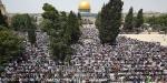Mescid-i Aksada 200 bin kişi Cuma namazı kıldı