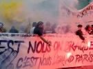 Fransa'da 'insan seli' gösterileri başladı