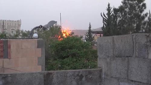 Suudi Arabistan öncülüğündeki koalisyon Yemende petrol istasyonunu vurdu