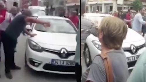 İzmirde CHP Cumhurbaşkanı Adayı İnceyi takip eden TRT ekibine saldırı
