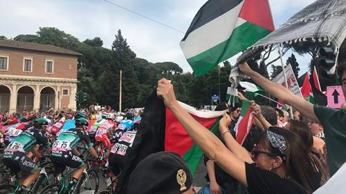 2018 İtalya Bisiklet Turuna İsrail protestosu
