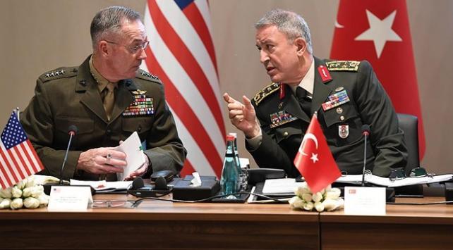 Genelkurmay Başkanı Akar, ABDli mevkidaşıyla Suriyeyi görüştü