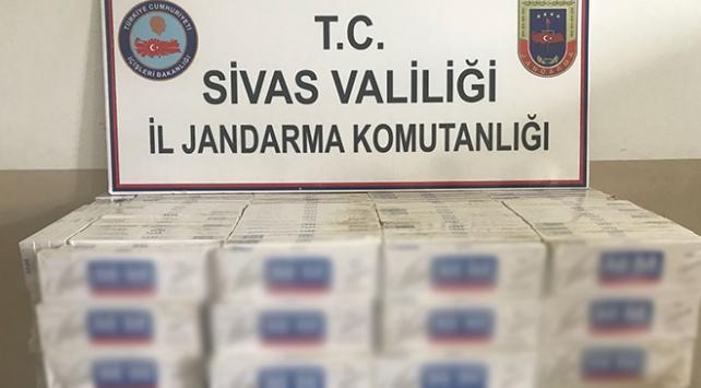 Sivasta 5 bin 300 paket kaçak sigara ele geçirildi