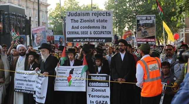 Londrada Kudüs Günü yürüyüşü düzenlendi