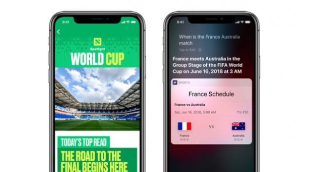 Appledan 2018 Dünya Kupası için güncelleme